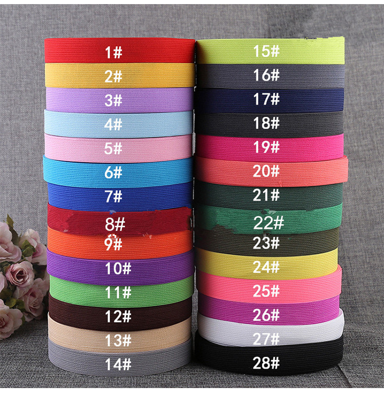 1 Roll Colored Elastic Bands 20mm 50m Flat Sewing Rubber Band for Underwear Pants Bra Rubber