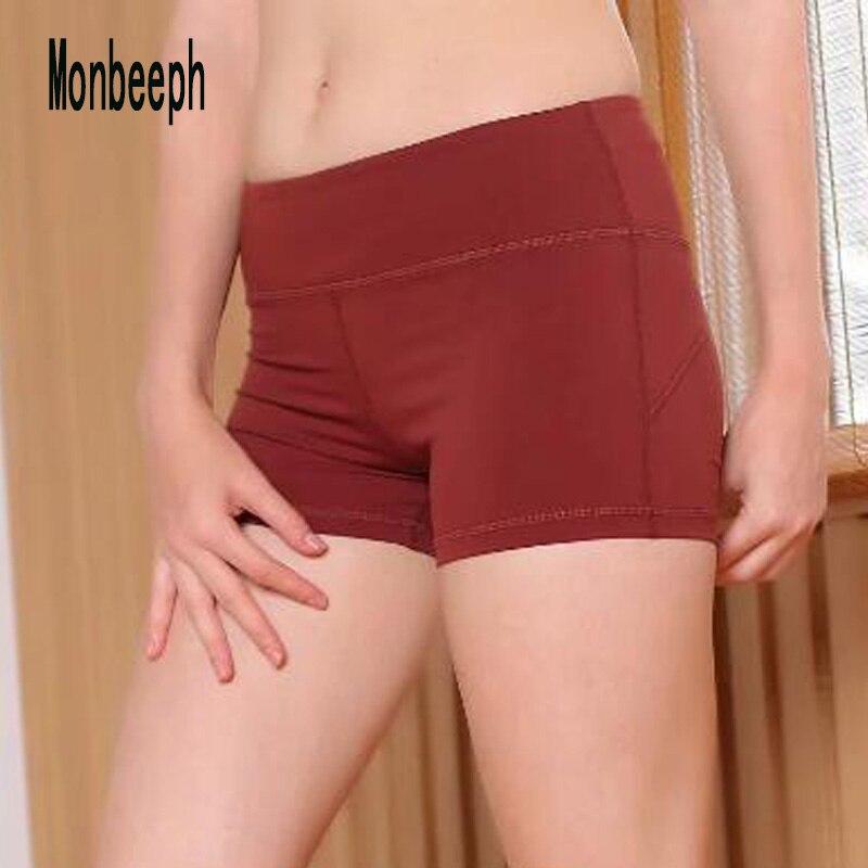 2019 Monbeeph High Waist Shorts Women Sexy Black Shorts Sweatpants Skinny Stretch Short