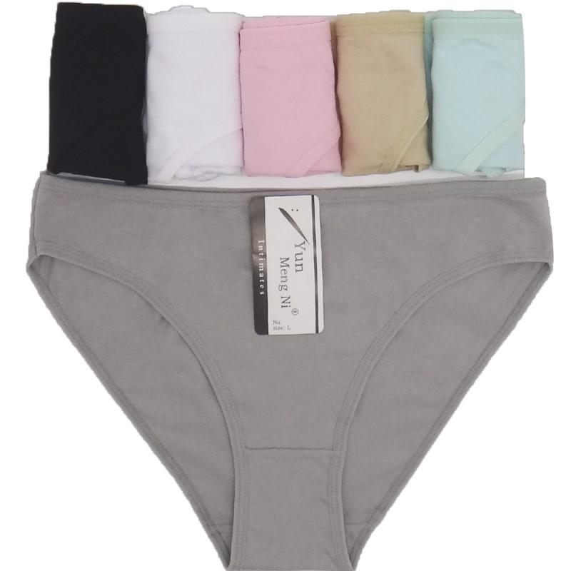 6unids Mujer de la mujer ropa interior de algodón de las mujeres sólido  lindo arco de baja altura sexy señoras niñas bragas Lencería M l XL 826c3b3b9577