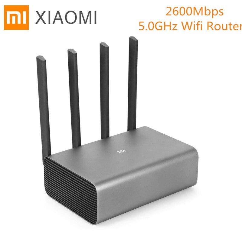 Router Xiaomi Mi Router Pro R3P 2600 Mbps WiFi Router inalámbrico inteligente Router Wifi 4 Antena de banda Dual 2,4 GHz 5,0 GHz Wifi dispositivo de red
