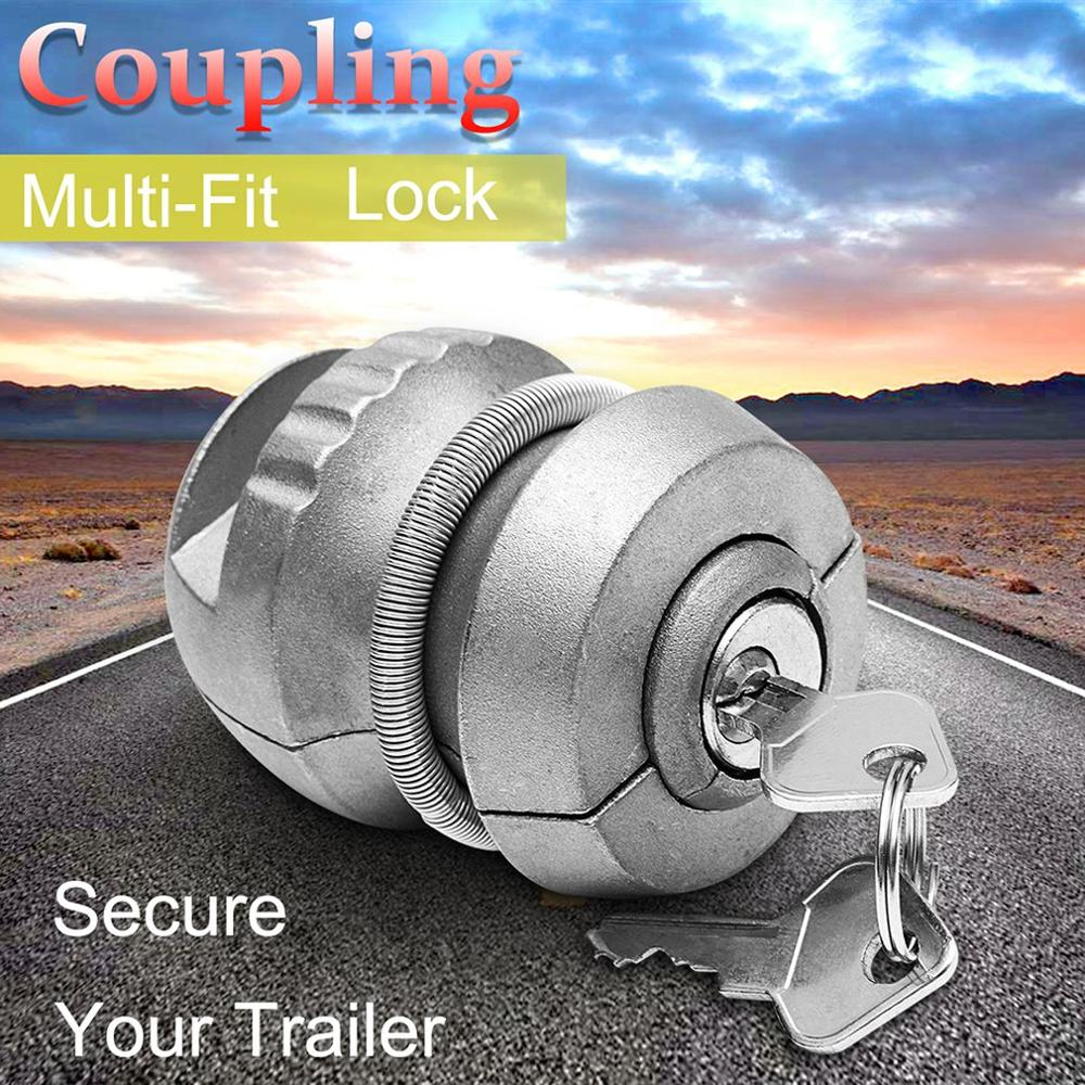 Durable Portable Universal Hitchlock Trailer Hitch Coupling Lock Tow Ball Lock Caravan Lock Auto Trailer Hitch