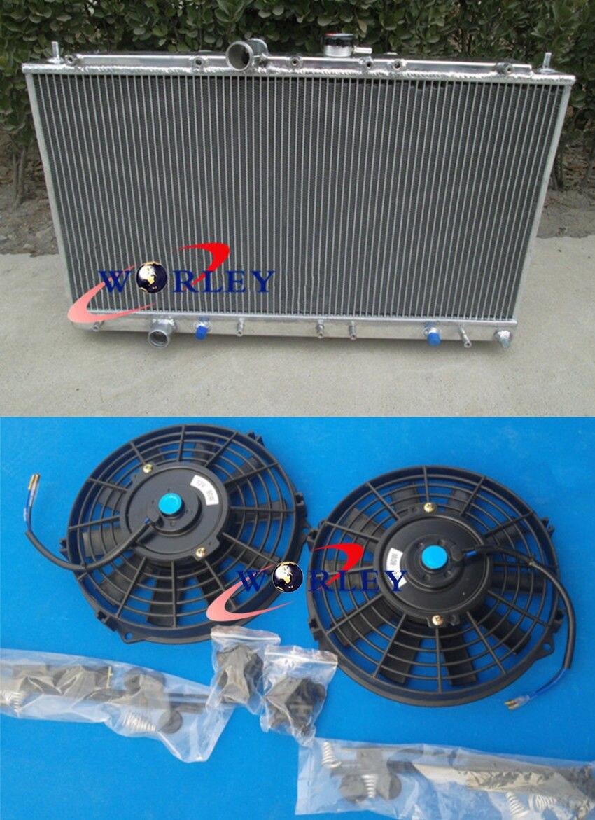 EC5W 6A13TT 1996-2003 Aluminum radiator /& fans for Mitsubishi Galant VR4 EC5A