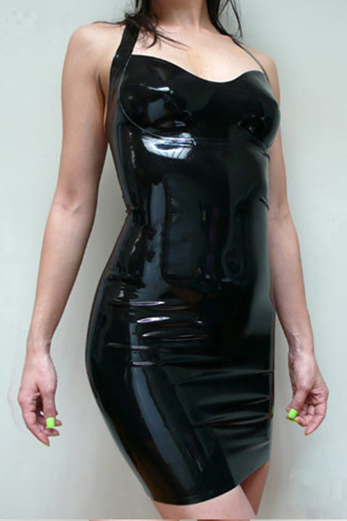 Plus size latex dress