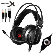 Wholesale Xiberia V10 Best Heavy Bass Gaming Headphone With Mic Vibration Breathing Led Light Stereo Casque PC Gamer Headset for Computer