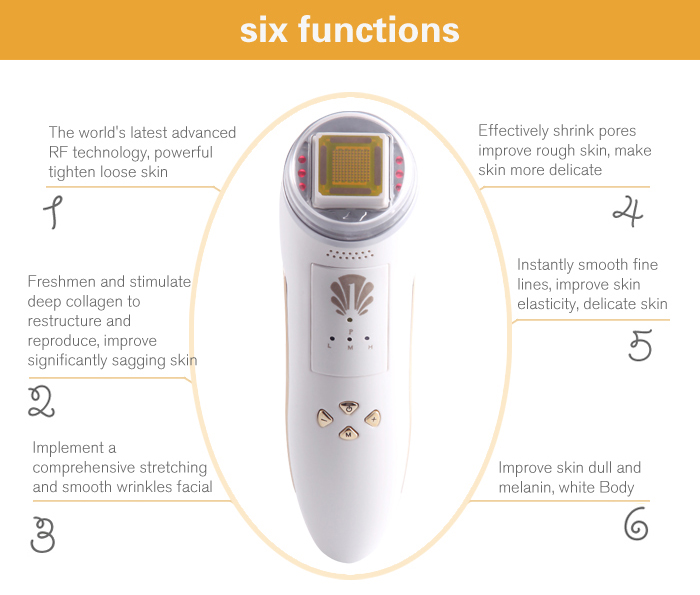 ФОТО Brand New Fractional RF Facial Skin Care Radio Frequency Slimming Body Massage Machine Skin Rejuvenation Lifting Remove Wrinkles