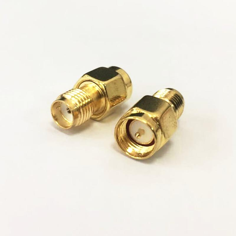 1pc SMA Male Plug  to  Female Jack   RF Coax Adapter convertor  Straight   goldplated NEW wholesale 2pcs lot yt70b rp sma male plug switch sma female jack rf coax adapter convertor connector straight goldplated sell at a loss