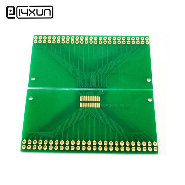 1 قطع 0.35 ملليمتر الملعب 50Pin LCM TFT LCD العالمي اختبار مجلس اختبار PCB Pinboard 2X25Pin التجريبية الإلكترونية Circuirt مجلس