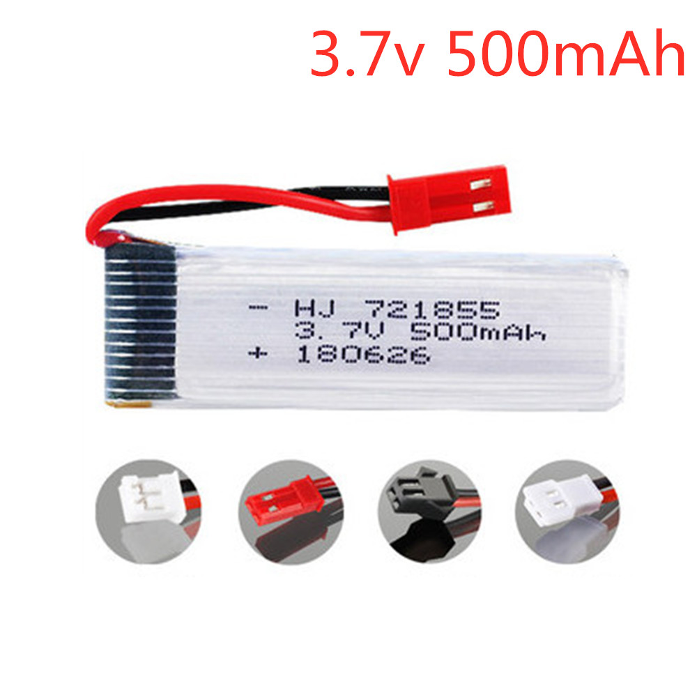 3.7V 500mAh Lipo <font><b>battery</b></font> For WLtoys V929 V966 V977 X20 V959 V212 V222 H37 H07 Udi U815A U818A L6036 Lipo <font><b>battery</b></font> <font><b>721855</b></font> image