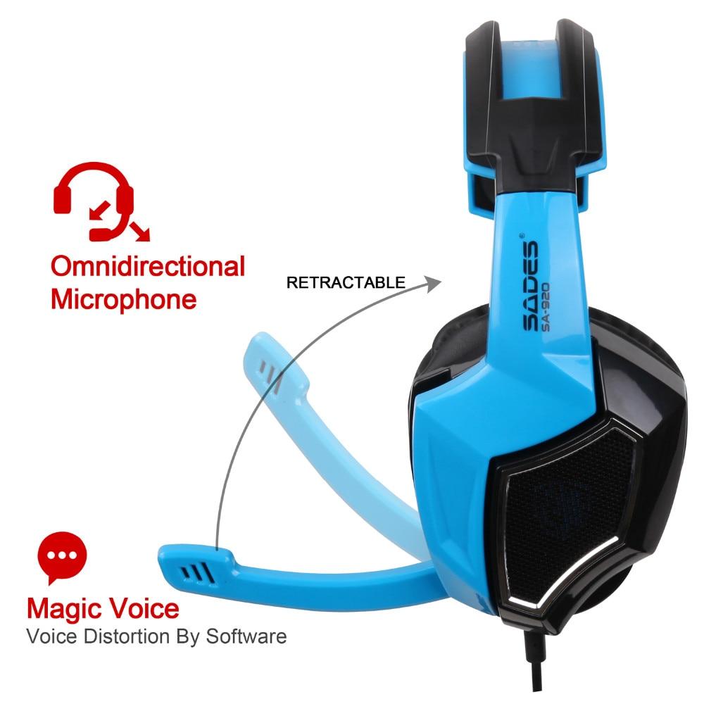 Sades SA-920 Stereo Gaming Kõrvaklapid kõrva juhtmega mängu - Kaasaskantav audio ja video - Foto 5