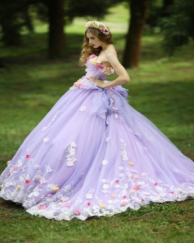 14958 18 De Descuentovestidos De Quinceañera De Flores Vestido De Baile De 2019 Vestidos De 15 Años Vestido De Debutante Para Quinceañeras In