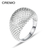 Cremo Scale 925 Sterling Silver Ring 3 Dimensional Design Punk Hollow Silver 925 Jewelry Rings For Women Fashion 2018 New Anillo