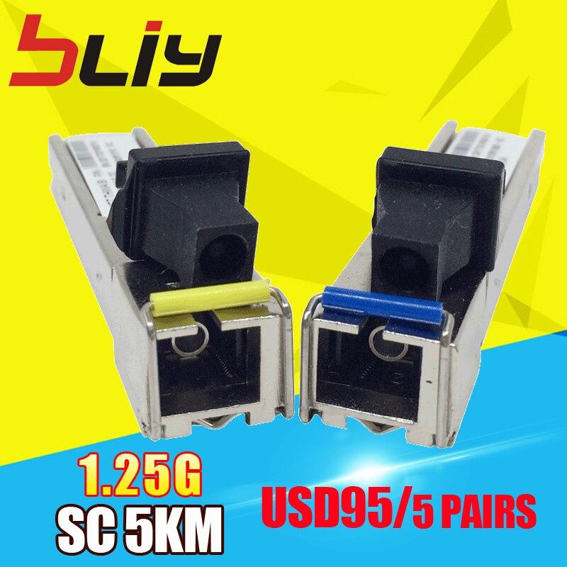 10 pz/lotto SC 5 KM 1.25G mini GBIC SFP modulo switch fibra ottica transceiver SFP modulo compatibile con TP-link/Mikrotik/Cisco