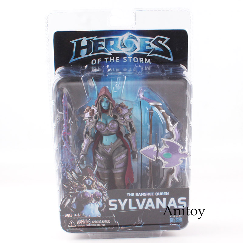 NECA Heroes Of The Storm The Banshee Queen Sylvanas PVC Action Figure Collectible Model Toy 17cm KT4779 neca heroes of the storm tyrael pvc action figure collectible model toy 7 18cm