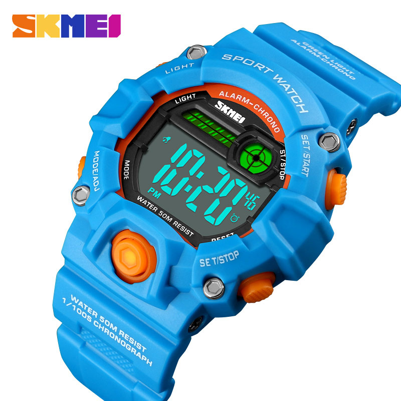 SKMEI NEW Kids Watches Digital Wristwatch 50M Waterproof Plastic Case Alarm Boys Girls Children Watch 1484 Reloj