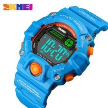 SKMEI NEW Kids Watches Digital Wristwatch 50M Waterproof Plastic Case Alarm