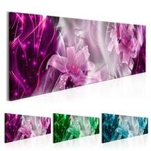 Современная Абстрактная Картина на холсте цветы настенная живопись