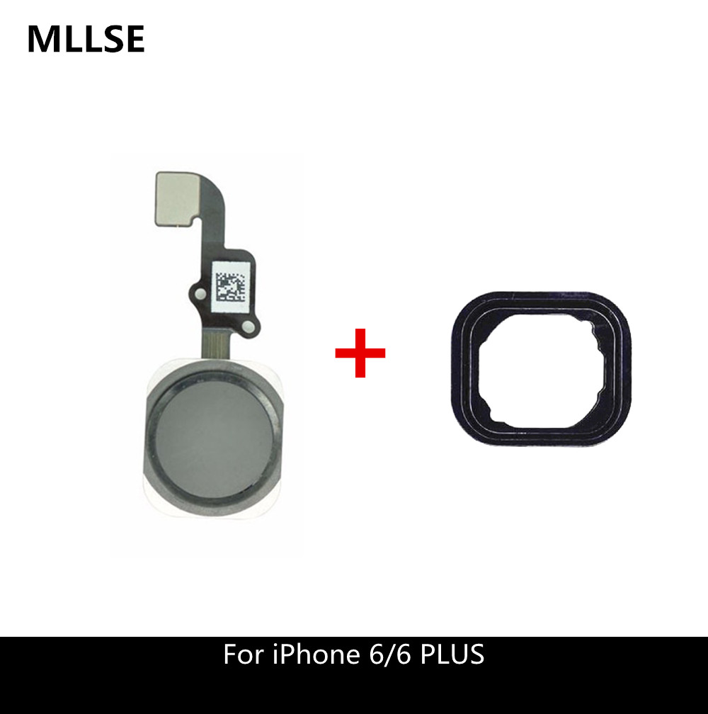 Fingerprint Home Button Flex Cable For IPhone 6 /6 Plus Menu Sensor Complete Replacement Parts With Rubber Sticker No Touch ID
