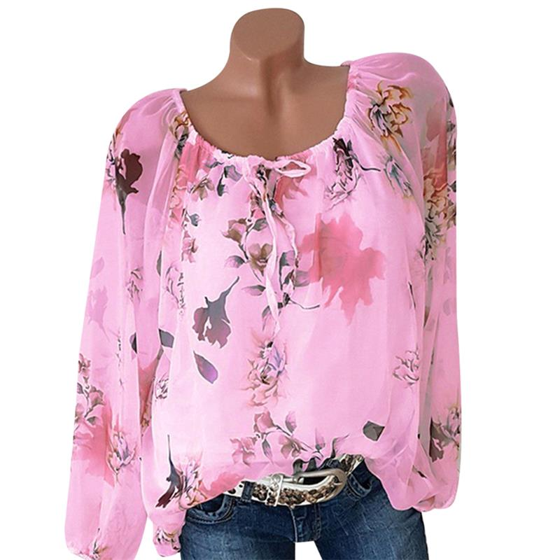 Off Shoulder Womens Tops And Blouses Flower Printed Fashion Shirts Long Sleeve Vintage Ladies Plus Size 2018 Boho Blusa Feminina 4