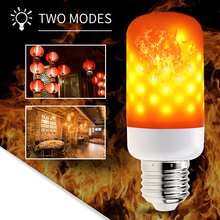 E14 Flame Bulb E27 Led 3W Effect Fire Light Bulbs 85-265V Flickering Emulation Decor LED Lamp E26 Simulation Burning