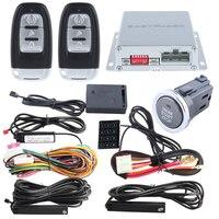 EASYGUARD Auto Lock Unlock Car Alarm Hopping Code Auto Start Push Start Button Touch Password Keypad