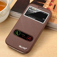 For Samsung GALAXY S3 S4 S5 Stand Cover Flip Windows Cover Case For Samsung S5 Cover