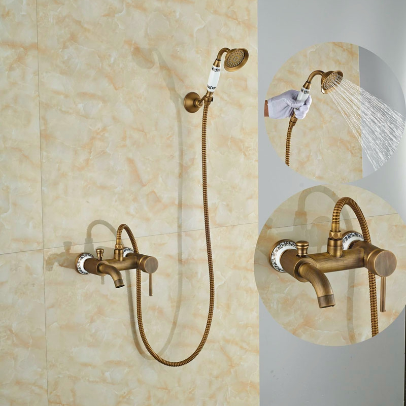 Single Lever Bathroom Shower Set Exposed Antique Br Units Mixer Tap In Faucets From Home Improvement On Aliexpress Alibaba Group