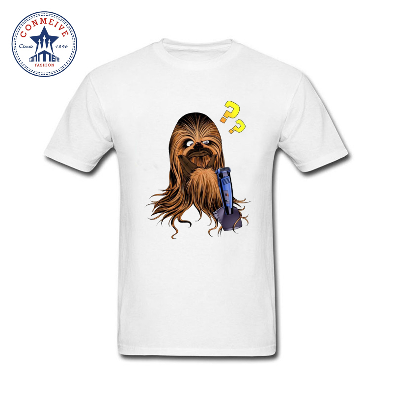 Star Wars Cartoon Chewbacca Funny Design Short Sleeve T