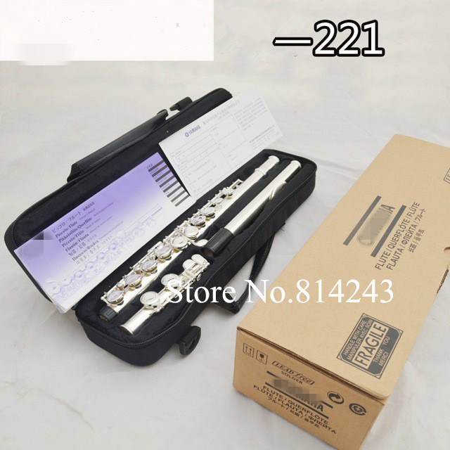 Cheap New High Quality Brand Flute YFL 221 Silver Plated 16 Holes closed C Key Tone