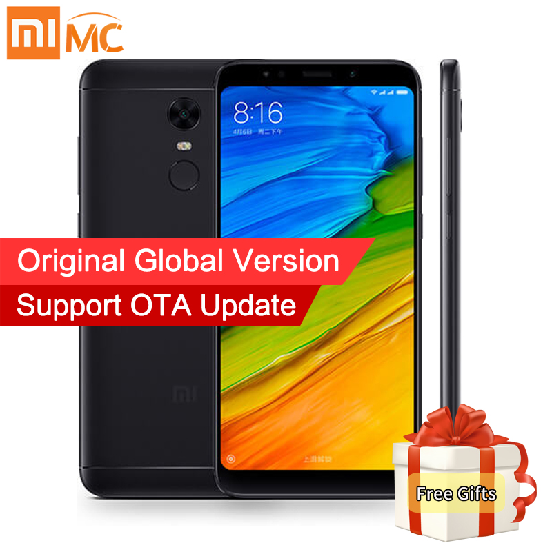 Livraison Cas! Mondial Version Xiaomi Redmi 5 Plus 4 gb 64 gb 5.99 FHD 18:9 Plein Écran Smartphone Snapdragon 625 Octa core 4000 mah CE