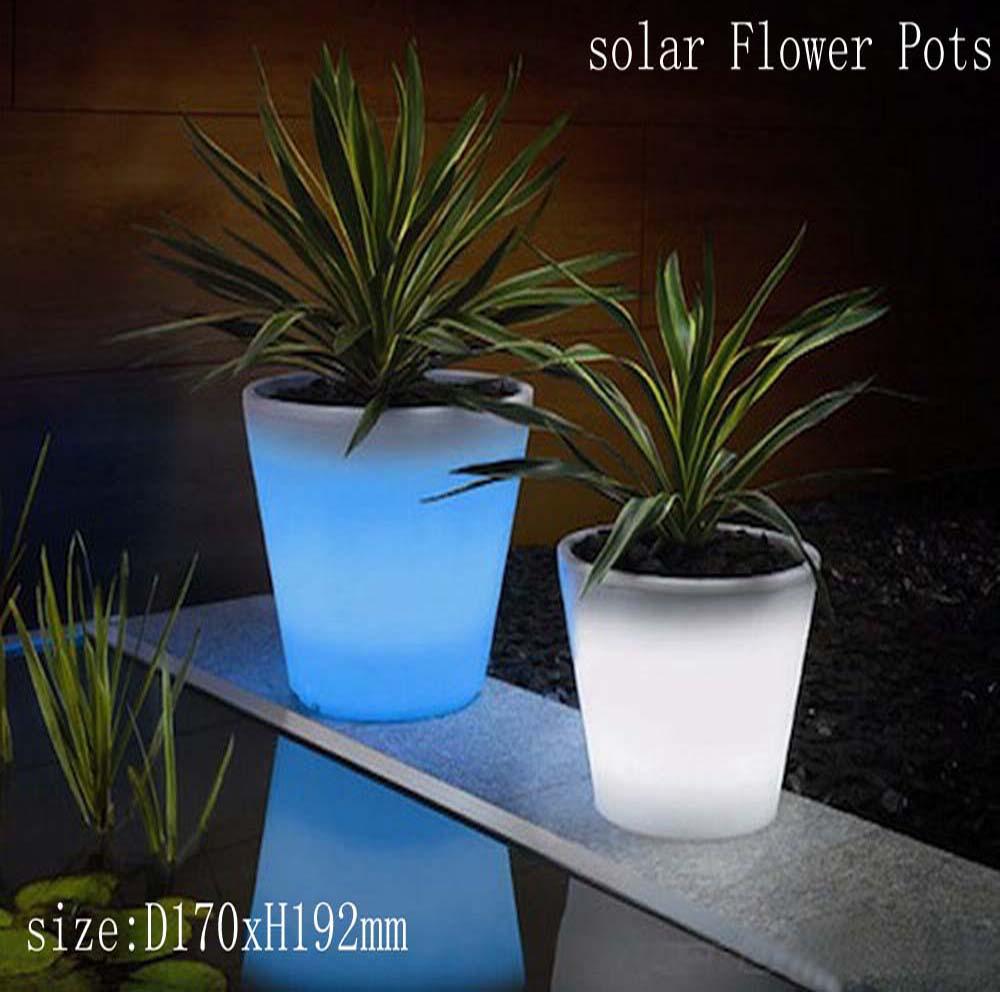 Led Solar Flower Pot Font