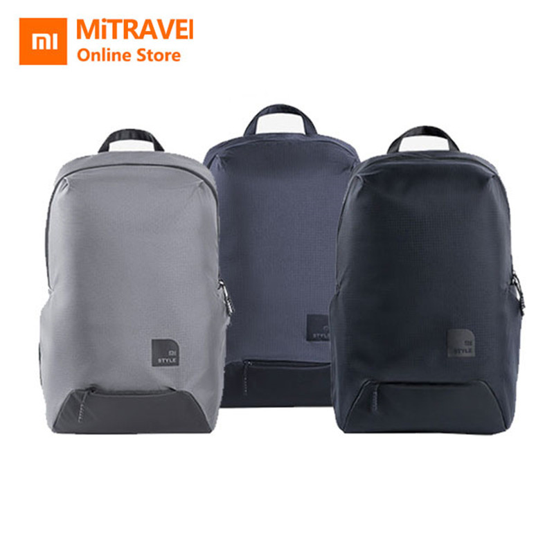 Xiaomi Mi Backpack Casual Shoulder Bags Sport Styles Technology Decompression Material Refreshing Cool 23L For 15.6