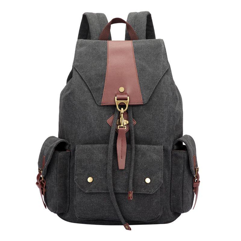 2017 Backpack Women Luxury Canvas Bag Travel Backpacks Zipper Solid Men's Bags Brand School Bags for Teenagers