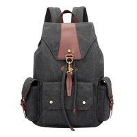 2017 Backpack Women Luxury Canvas Bag Travel Backpacks Zipper Solid Men's Bags Brand School Bags for Teenagers Men's Backpacks