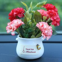 Car Simulation Plant Ornaments Flowerpot Chrysanthemum Rose