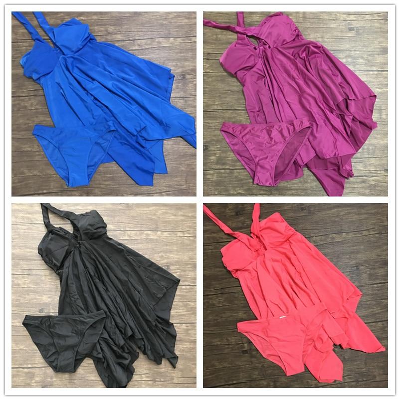 M-XXXL New Skirt Big Women Summer Dress One piece Swim Suit Lady Bathing Suit Large Size Big Swimwear Plus Size Swimsuit studio m new blue solid women s size large l maxi asymmetrical skirt $78 375