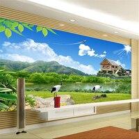 Beibehang leo núi đăng bức tranh tường Châu Âu backdrop TV wallpaper phòng khách phòng ngủ bức tranh tường ảnh nền papier peint