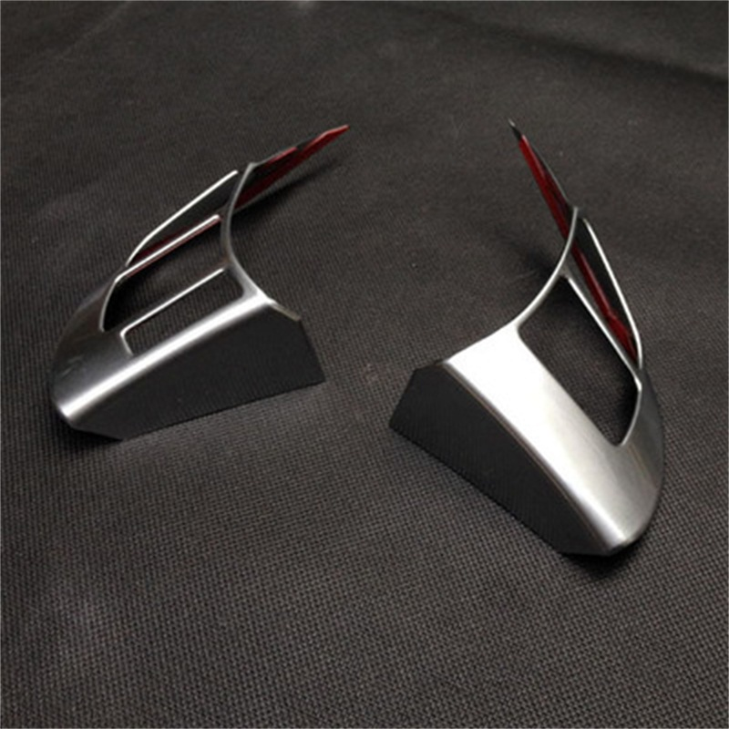 Car ABS Chrome Steering Wheel Stickers For Mazda 3 2006 2007 2008 2009 2010 2011 2012 2013 Accessories 2Pcs Auto Parts