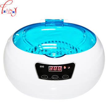 110/220V 50W 1PC Small ultrasonic cleaning machine km-890 household jewellery watch tooth cover ultrasonic cleaning machine