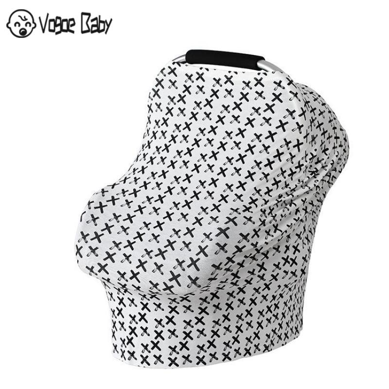 Multifunction Stretchy Baby Car Seat Cover Nursing Cover Breastfeeding Cover Shopping Cart Grocery Trolley Covers Carseat Canopy in Nursing Covers from Mother Kids