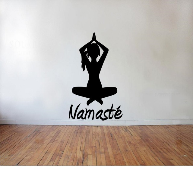 Indian yoga namaste wall decal girls buddha vinyl wall stickers interior home decor removable art mural