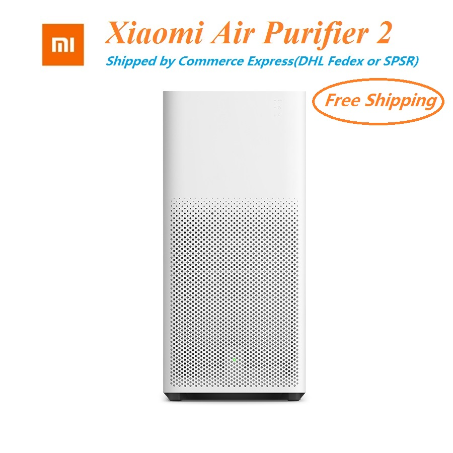 Xiaomi Air Purifier 2 Intelligent Wireless Smartphone Control Smoke Dust Peculiar Smell Cleaner Household Appliances dmwd air purifier household ozone sterilizing deodorizing device in addition to smell cleaner refrigerator cabinet among pets