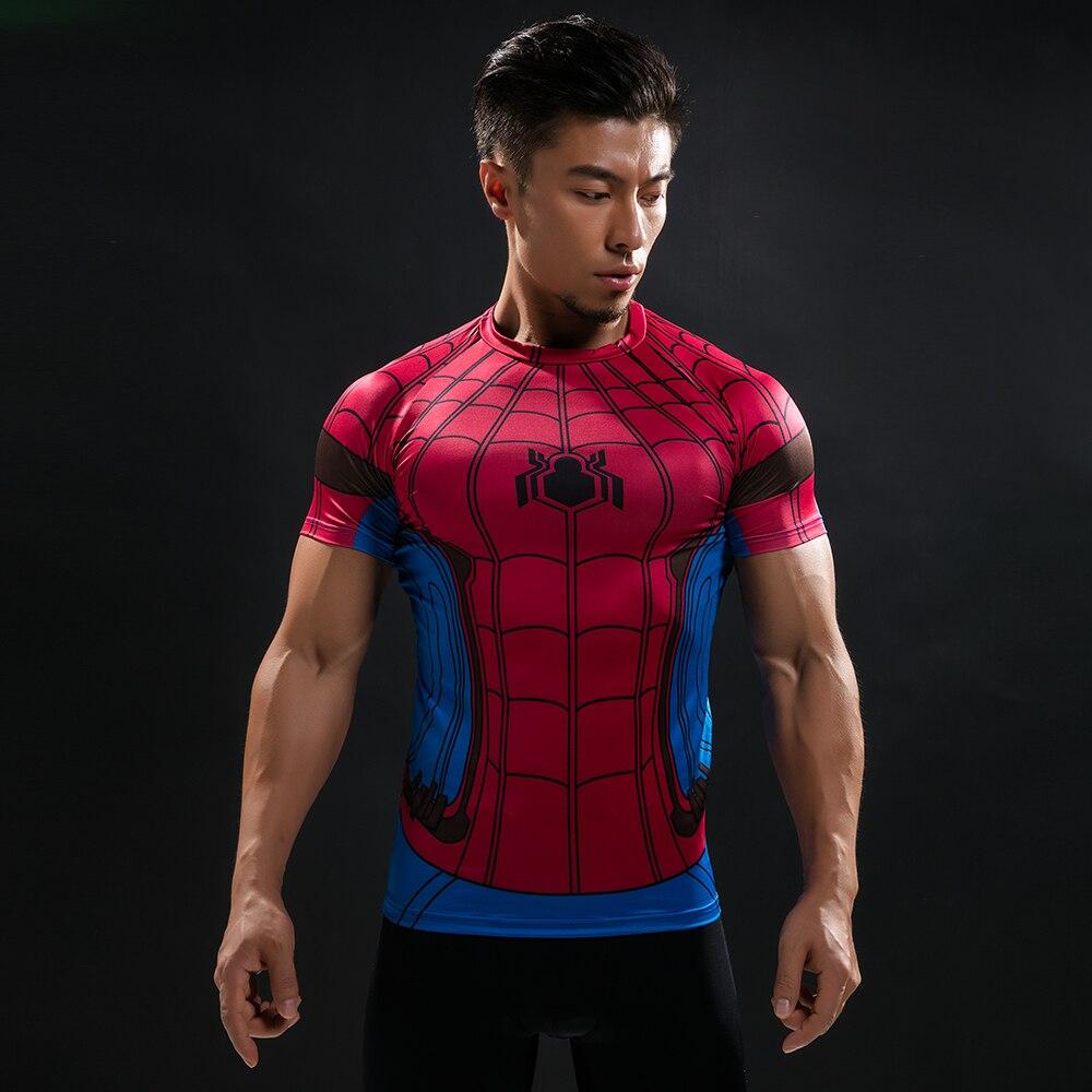 New 3D Male T Shirt Batman VS Superman Tshirt Men Compression Shirt Tops T-shirt Fitness ...