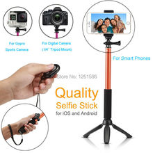 For Samsung S6 S5 S7 Edge +/For LG G4 Camera Photo Selfie Stick Extendable Gopro/Xiaoyi Monopod Bluetooth Shutter+YunTeng Tripod
