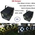 4 единицы Flightcase Pack Studio Light ACME Sniper 5R 200 Вт Луч точечный лазерный сканер для сцены Дискотека освещение оборудования