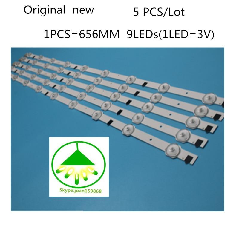 LED Strip D2GE-320C0-R0 BN96-28489A For Samsung 32'' TV D2GE-320C1-R0 UE32F5000 UE32F5500 UE32F4000 CY-HF320BGSV1H  656MM