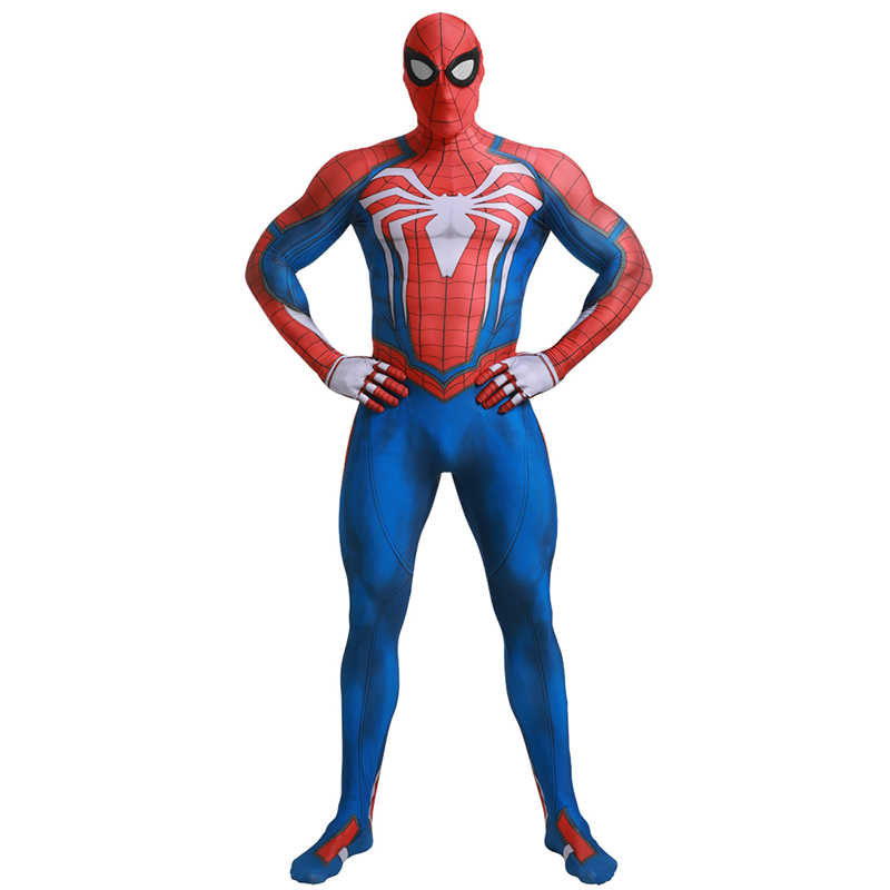 Adulto Marvel Superhero Clássico PS4 Insomniac Games Spiderman Zentai Suit Halloween Carnaval Festa Cosplay Traje Da Pele Apertada