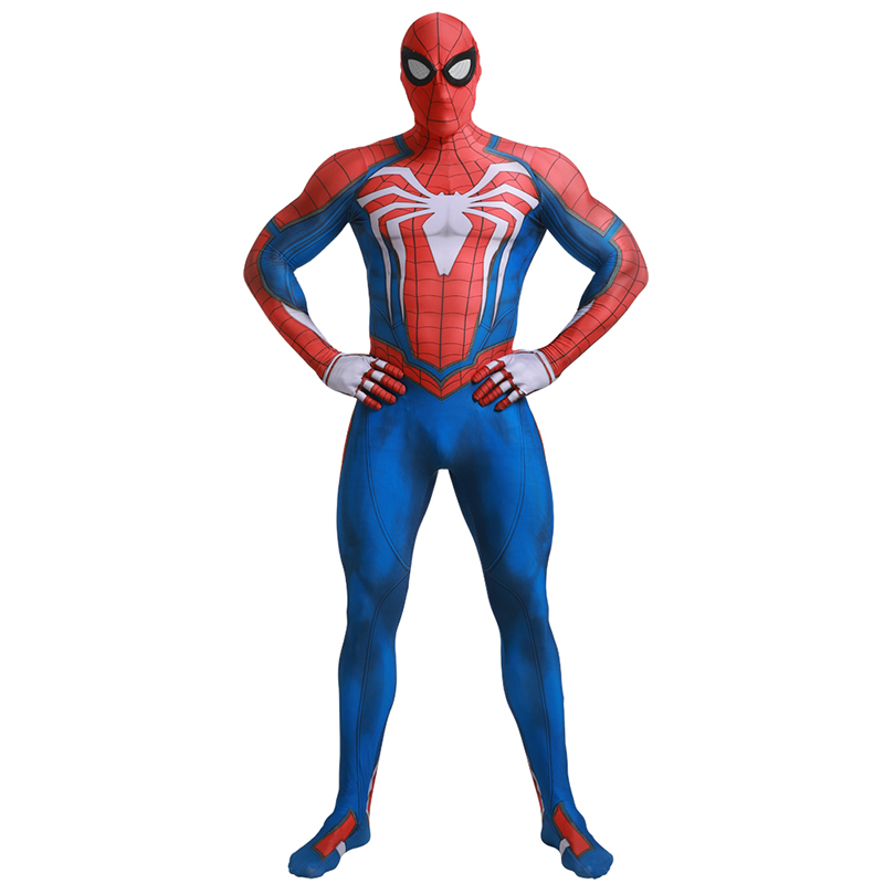 Adult Marvel Superhero Classic PS4 Insomniac Games spider boy Carnival Party Zentai Suit Halloween Cosplay Skin Tight Costume
