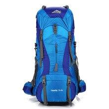 Купить с кэшбэком 75L Sport Backpack Mountain Hiking Bag Camping Bagpack Outdoor Travel Bags Men Waterproof Bags Bagpacks Bag Women Rucksack Bolsa