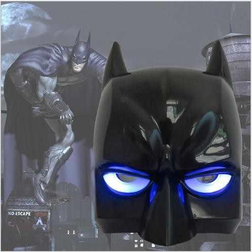 Hot Halloween LED świecące Batman maska dorosłych czarny Masquerade Party karnawał sukienka górna połowa twarzy maska kreskówki dla dzieci Avenger