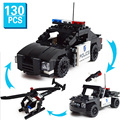 3in1 car helicopter Model Building Kit Law enforcement vehicles model building blocks educational toys for children